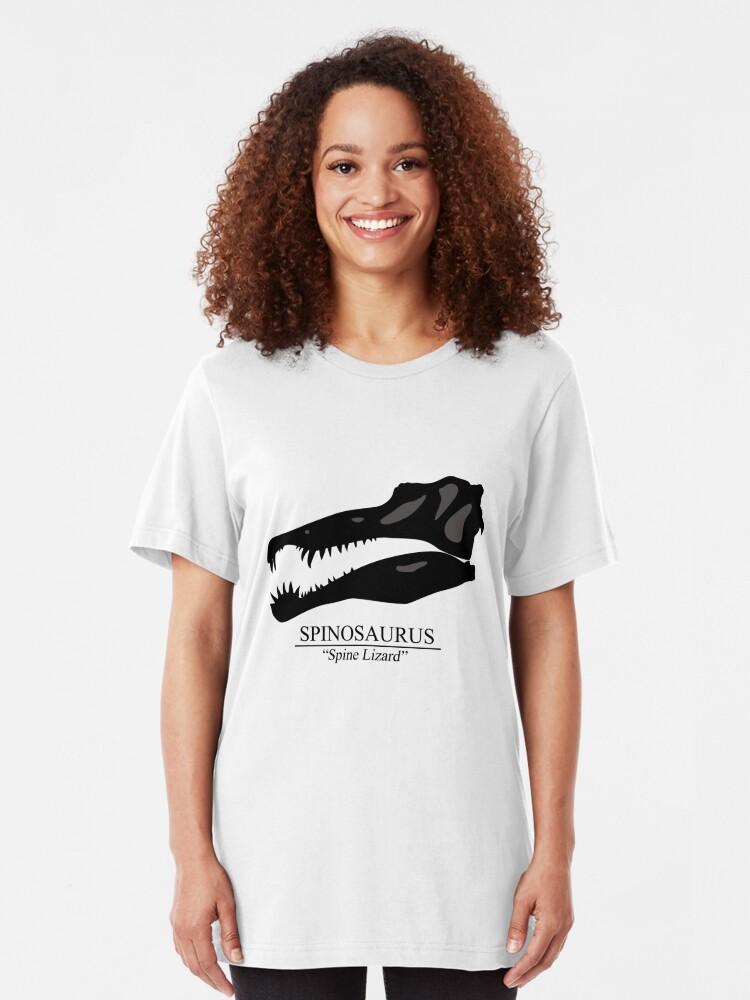 Alternate view of Spinosaurus Skull Slim Fit T-Shirt