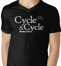 Cycle and Cycle. Bicycles at Law Men's V-Neck T-Shirt