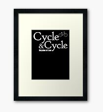 Cycle and Cycle. Bicycles at Law Framed Print