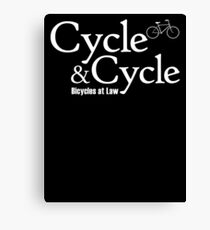 Cycle and Cycle. Bicycles at Law Canvas Print