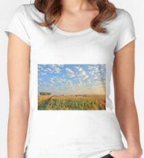 Maturing Corn Fields Women's Fitted Scoop T-Shirt