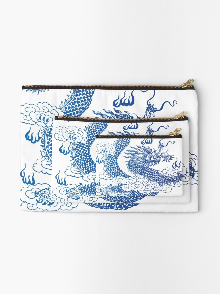 Alternate view of Awesome Asian Dragon Zipper Pouch