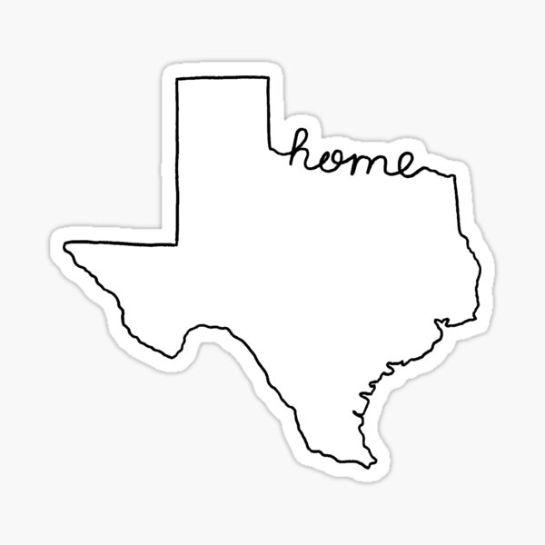 Texas Home State Outline Sticker