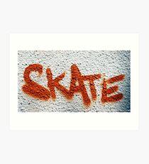 Skate Graffiti Art Print