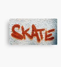 Skate Graffiti Canvas Print