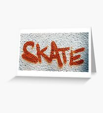 Skate Graffiti Greeting Card