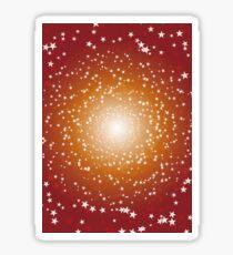 Orange Galaxy Sticker