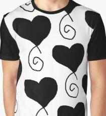 black hearts on white Graphic T-Shirt