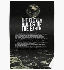 Eleven Rules of The Earth Classic Poster