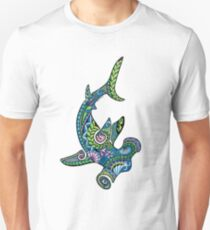Tribal Hammerhead Shark, color T-Shirt