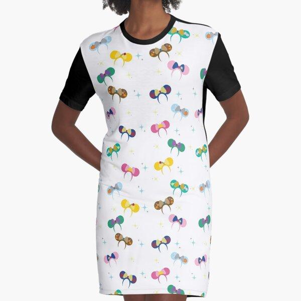 Magical Princess Ears Graphic T-Shirt Dress