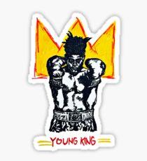 YOUNG KING - Jean Michel Basquiat inspired original artwork Sticker