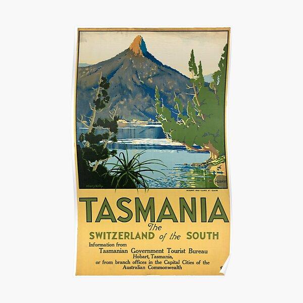 Australia By Train Seaside Vintage Australian Travel Advertisement Poster