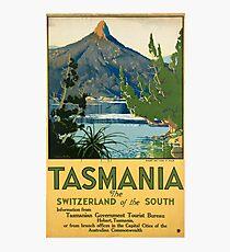 Vintage poster -Tasmania Photographic Print