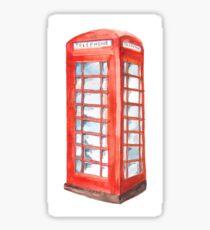 English Telephone Box Sticker