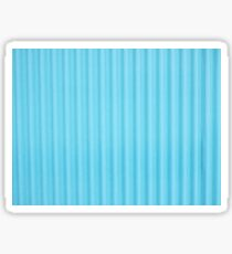 Blue Corrugated Iron Sticker
