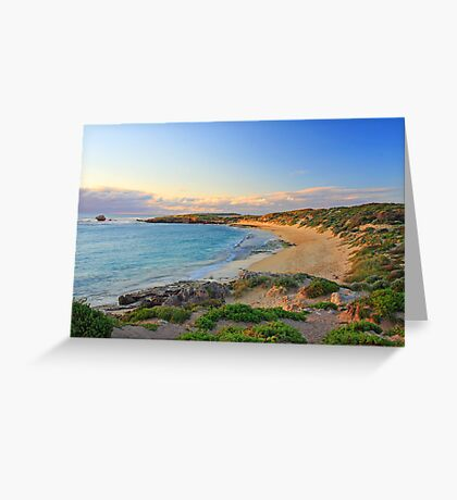 Sunset over the bay  Greeting Card