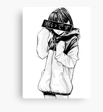 COLD (Black and White) - Sad Japanese Aesthetic Canvas Print