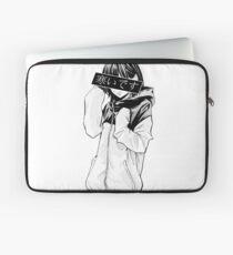 COLD (Black and White) - Sad Japanese Aesthetic Laptop Sleeve