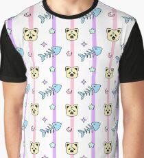 Kawaii Hungry Kitty Graphic T-Shirt