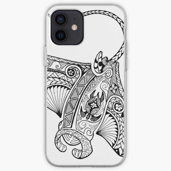 Tribal - Rayon Manta influencé par les Polynésiens Coque souple iPhone