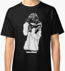 COLD (Black and White) - Sad Japanese Aesthetic Classic T-Shirt