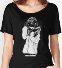 COLD (Black and White) - Sad Japanese Aesthetic Women's Relaxed Fit T-Shirt