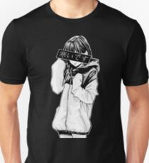 COLD (Black and White) - Sad Japanese Aesthetic T-Shirt
