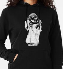 COLD (Black and White) - Sad Japanese Aesthetic Lightweight Hoodie