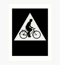 Watch Out for Bicycles Art Print