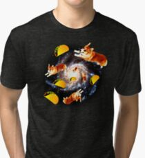 Corgi Taco Galaxy - Funny Corgi Tri-blend T-Shirt