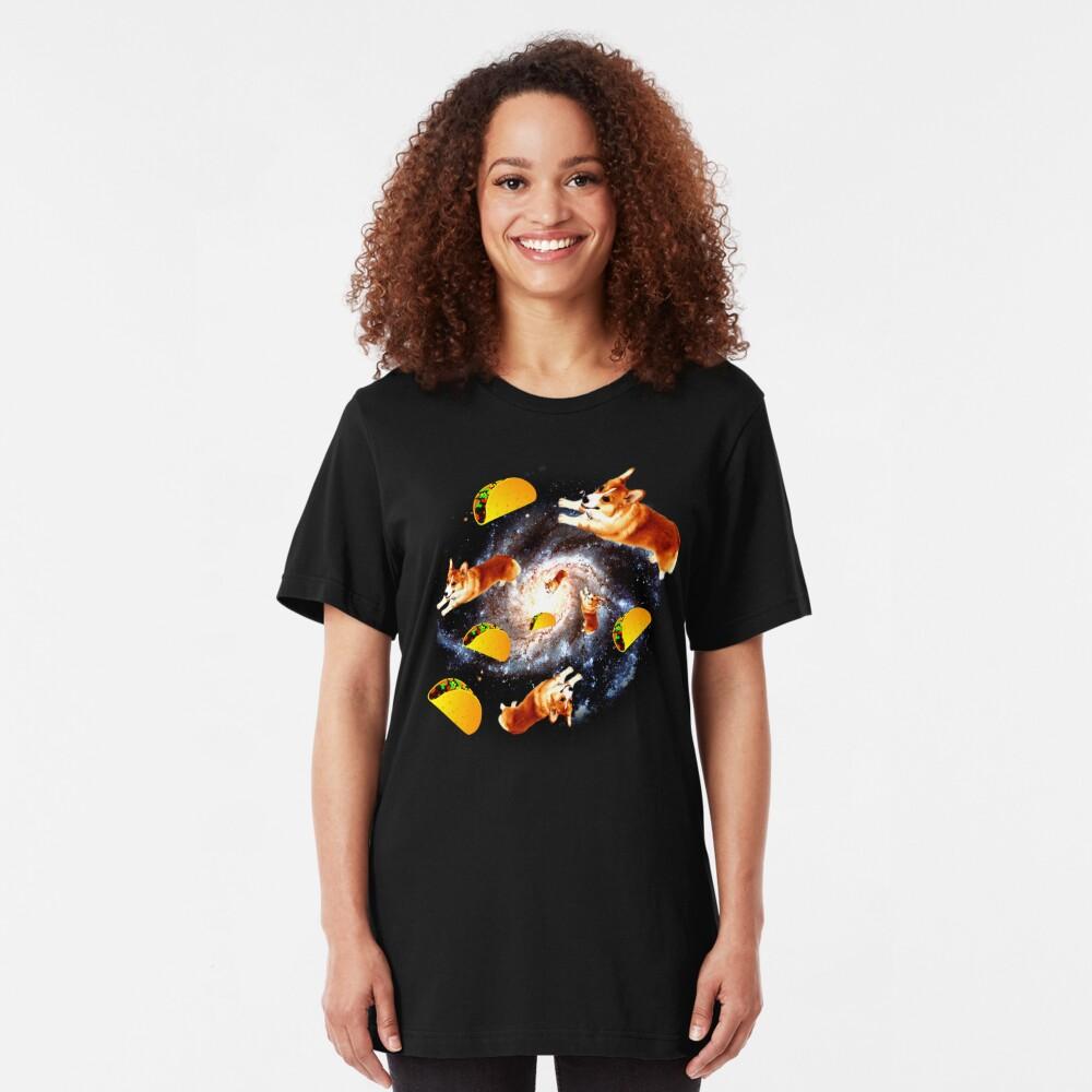 Corgi Taco Galaxy - Funny Corgi Slim Fit T-Shirt