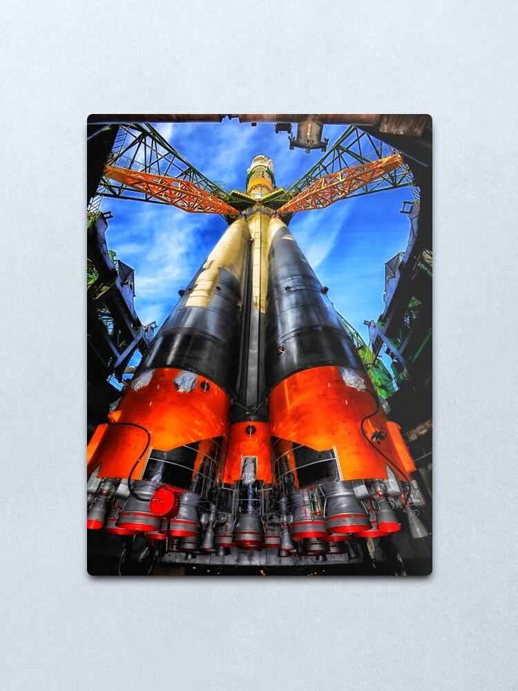 Alternate view of Soyuz Rocket  Metal Print