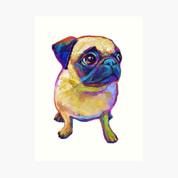 Adorable Pug Art Print