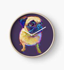 Adorable Pug Clock