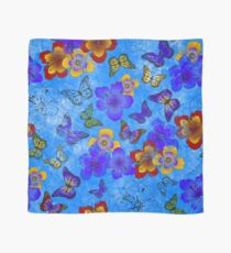 Cool Blue Butterfly Scarf