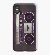 80s Retro Boombox iPhone Case