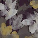 Marisol Floral - Armadillo Gray by Lynn Nafey