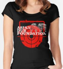 Community Music Asian Dub Foundation Women's Fitted Scoop T-Shirt