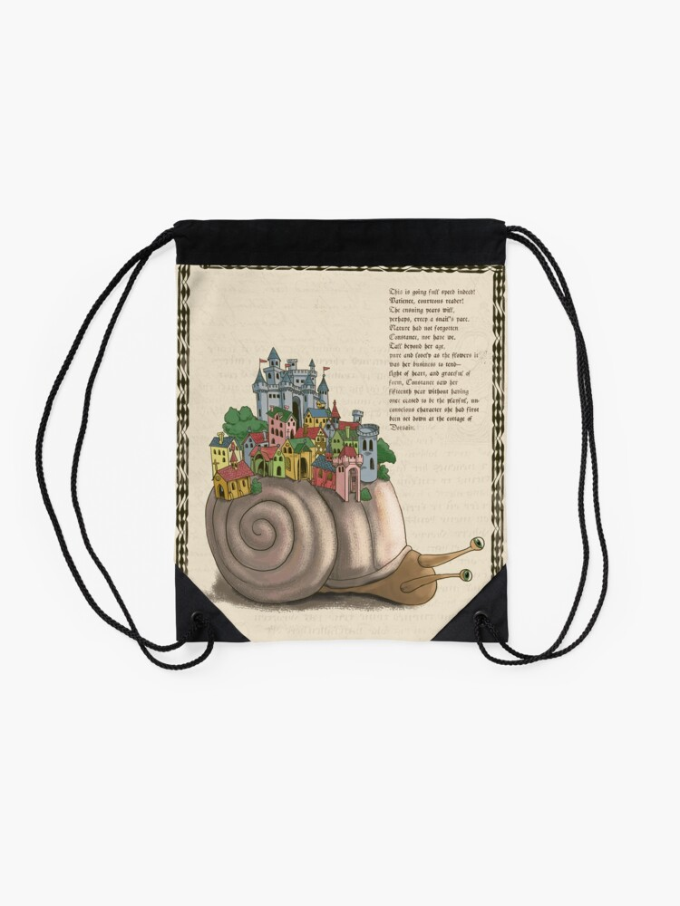 Alternate view of Medieval Snail Drawstring Bag