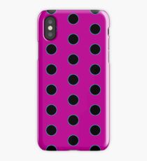 Big Black Dot on Bright Pink iPhone Case
