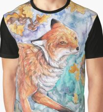 Fox in Oak Leaves Graphic T-Shirt