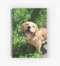 Finn the golden retriever Spiral Notebook