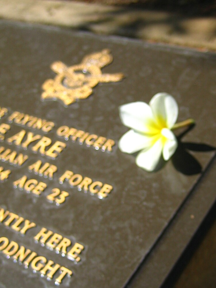 Headstone in Northern Territory War Memorial by AbbieM