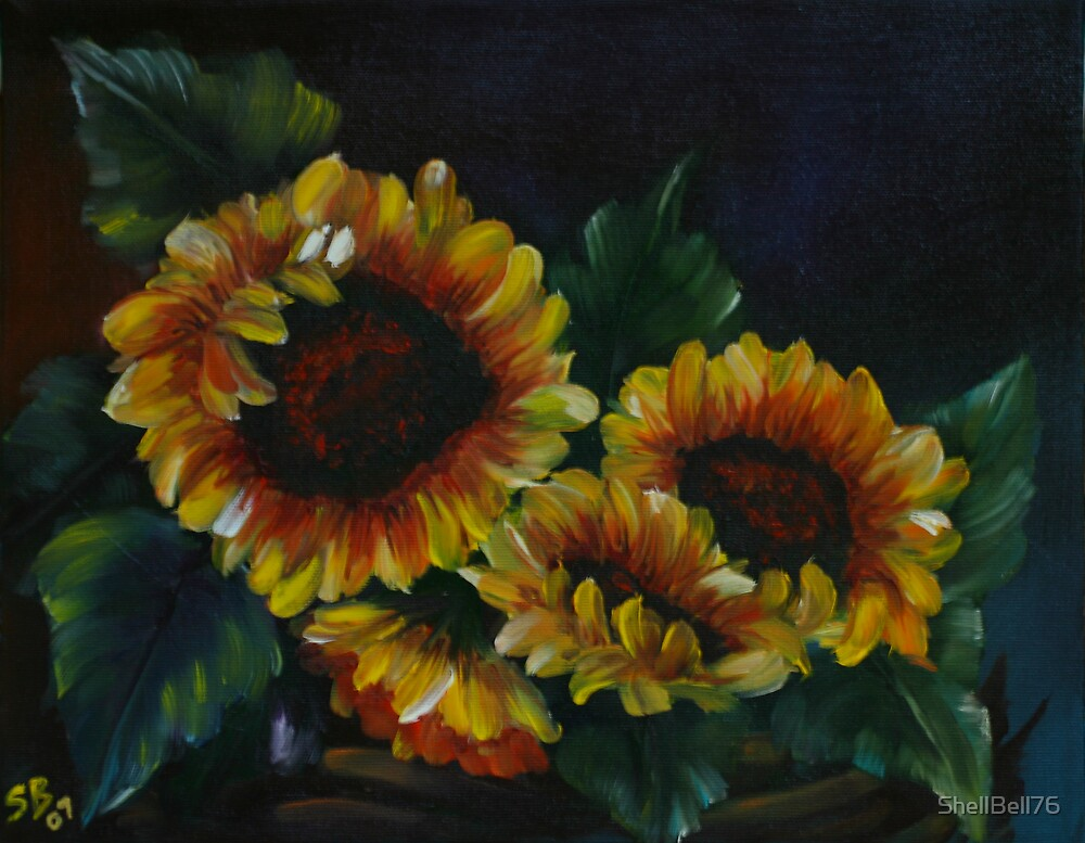 Basket of Sunflowrs by ShellBell76