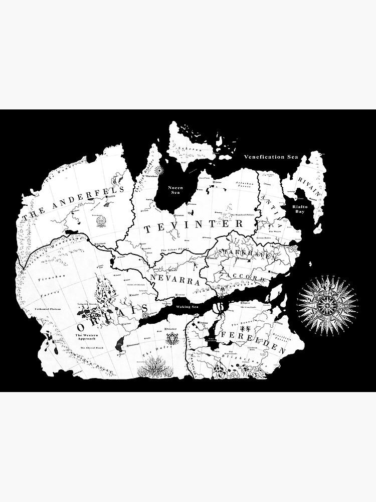 Thedas Map by Noelle304