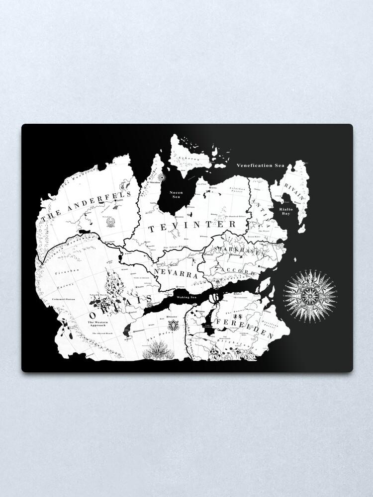 Alternate view of Thedas Map Metal Print