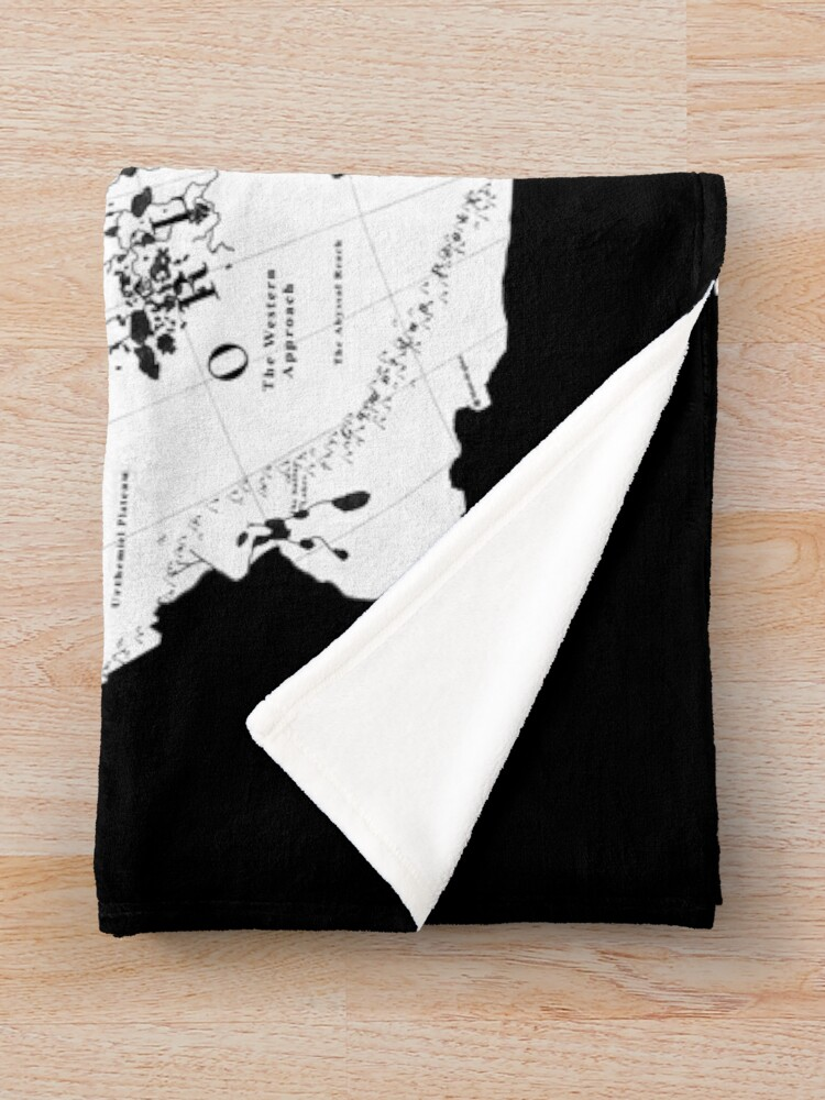 Alternate view of Thedas Map Throw Blanket