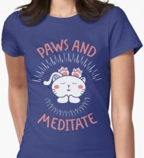 Paws and Meditate Cat Lover T-Shirt