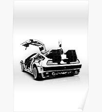 Delorean Vector Poster